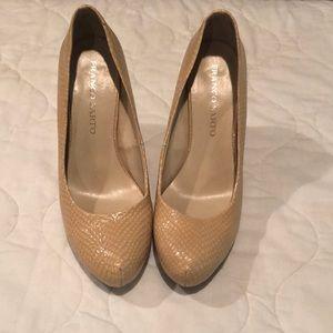 Franco Sarto snakeskin heels